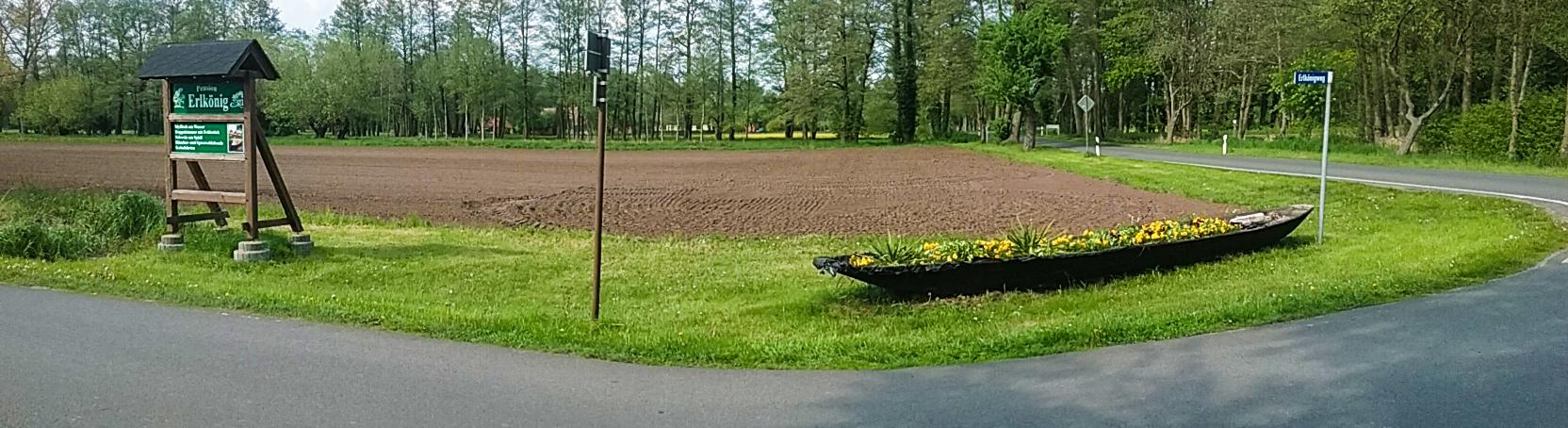 Einfahrt zur Pension Erlkönig in Burg Spreewald
